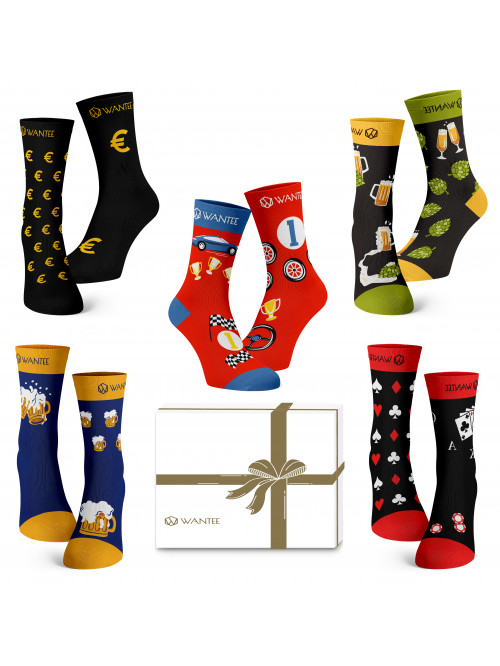 Wantee-Socken Männerclub 5-Pack Geschenkbox