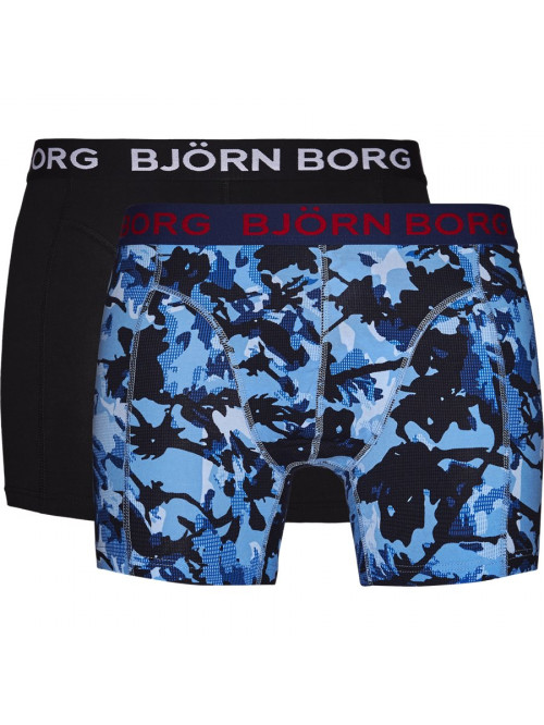 Herren Boxershorts  Björn Borg Branch Cotton Stretch 2-pack