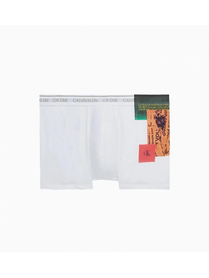 Herren Boxershorts Calvin Klein  CK ONE Newspaper Placed Print Weiß