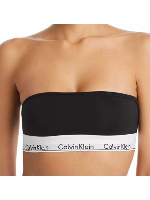 Damen Büstenhalter Calvin Klein Unlined Bandeau Schwarz Trägerlos