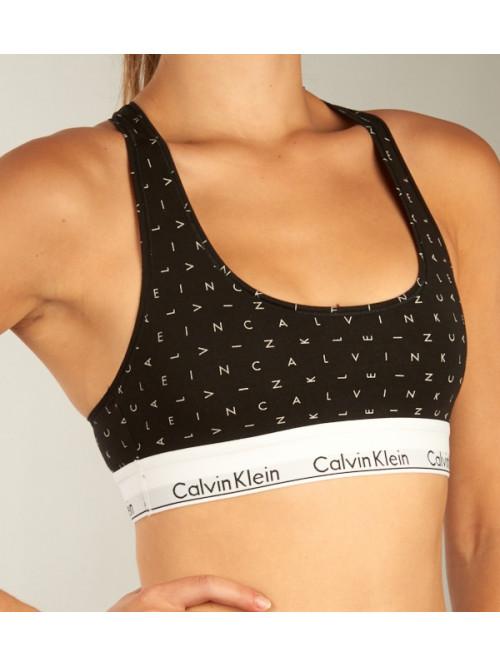 Damen Sport-BH Calvin Klein Bralette Boundless Logo Schwarz