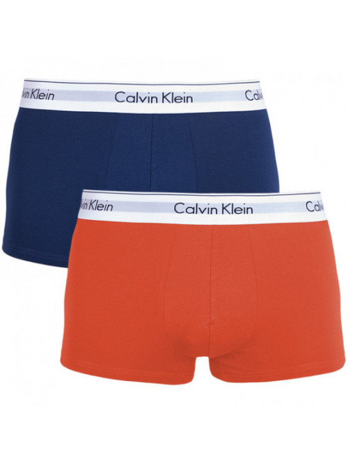 Herren Boxershorts Calvin Klein Trunk blau, orange 2-pack