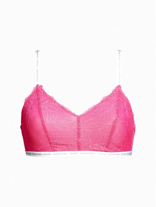 Damen BH Calvin Klein Unlined Triangle Bralette Satisfy Rosarot