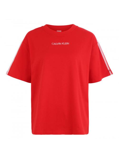 Damen T-Shirt Calvin Klein SS Crew Neck rot