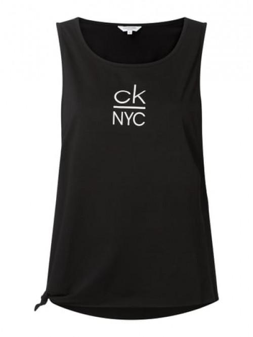Damen Tanktop Calvin Klein Side Knotted Tank Schwarz