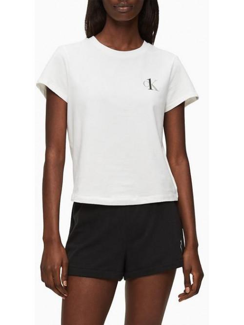 Damen T-Shirt Calvin Klein CK ONE SS Crew Neck Weiß