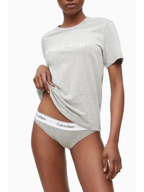 Damen T-Shirt Calvin Klein SS Crew Neck grau