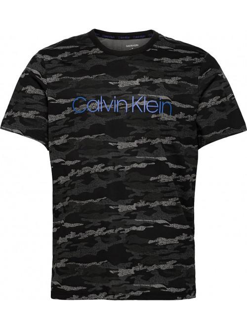 Herren T-Shirt Calvin Klein SS Crew Neck Schwarz / Tarnung