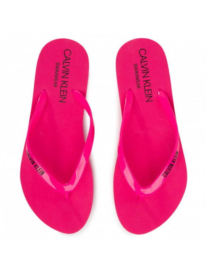Damen Flip-Flops Calvin Klein Swimwear Rosarot