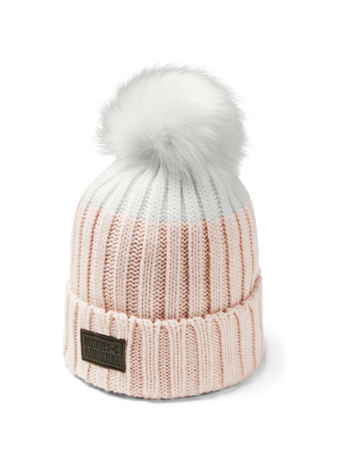 Damen Mütze Under Armour Snowcrest Pom Beanie Rosarot