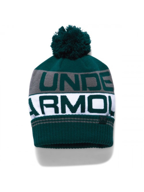 Herren Mütze Under Armour Retro Pom Beanie Grün