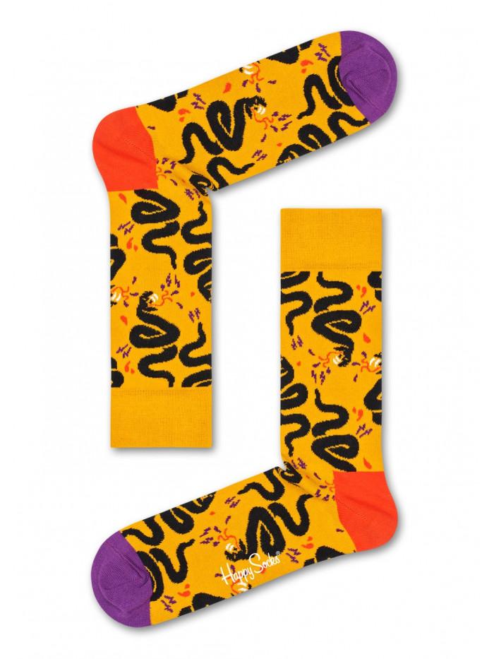 Socken Happy Socks Snake Gelb