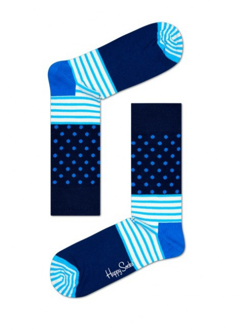 Socken Happy Socks Stripe Dot - Blau
