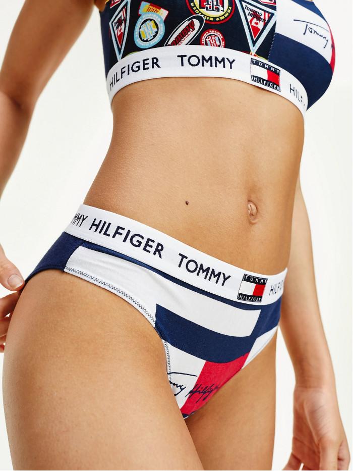 Damen Höschen Tommy Hilfiger Signature Logo Navy