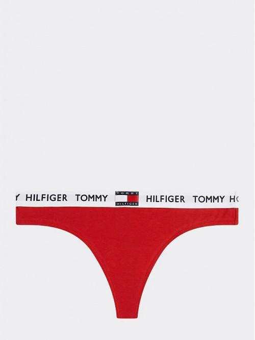 Damen Höschen Tommy Hilfiger Thong Rot