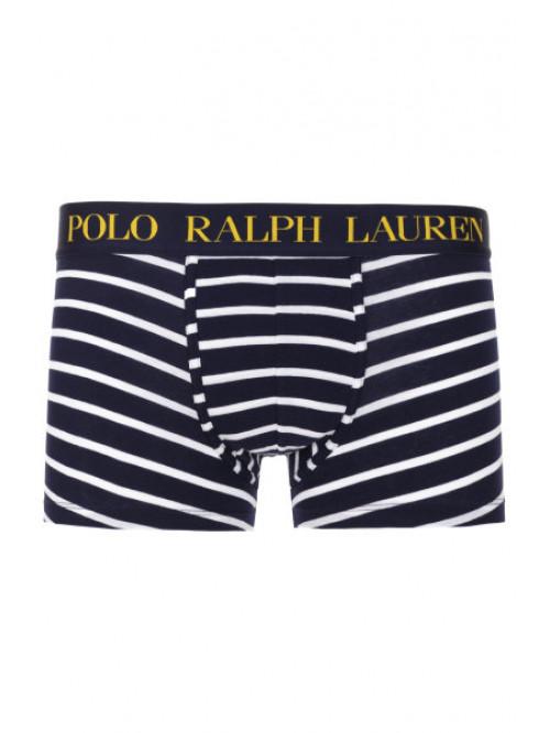 Herren Boxershorts Polo Ralph Lauren Classic Stripe Trunk Stretch Cotton Blau-Weiß, Streifen