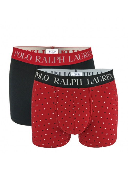 Herren Boxershorts Polo Ralph Lauren Classic Trunk Stretch Cotton 2-pack Schwarz, Rot