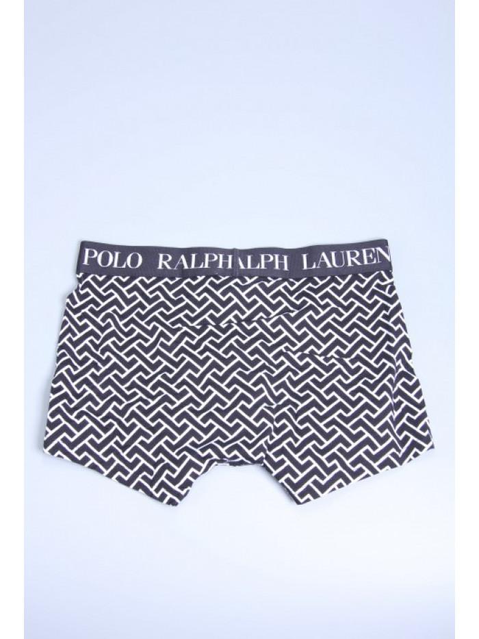 Herren Boxer Polo Ralph Lauren Black Deco Link Geometric Print Schwarz