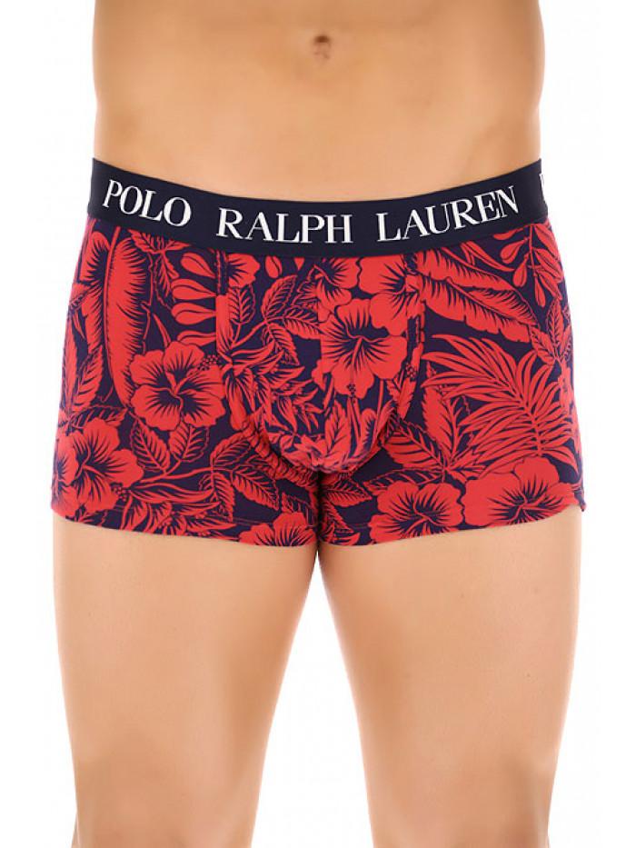 Herren Boxer Polo Ralph Lauren Classic Trunk Tropenprint Sunrise Rot