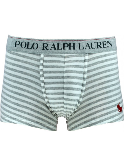Herren Boxer Polo Ralph Lauren Classic Trunk Spring Heather Nevis Stripe Grau