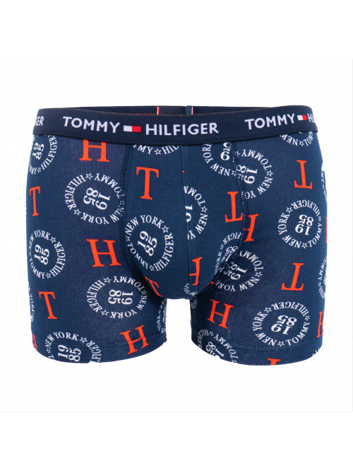 Herren Boxershorts Tommy Hilfiger All-Over Print Cotton Trunks Blau