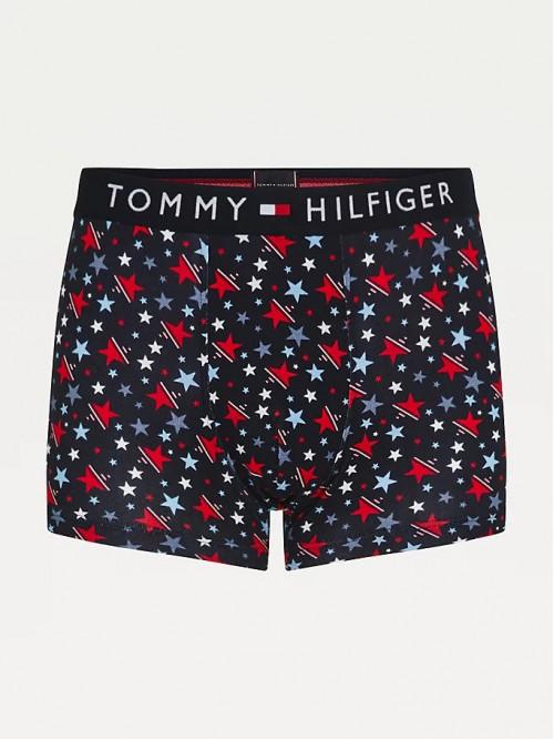 Herren Boxer Tommy Original CTN Trunk Print Schwarz / Sternenmuster