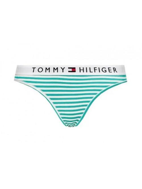 Damen Tangahöschen Tommy Hilfiger Stripe Stretch Organic Cotton Grüne Streifen