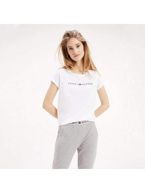 Damen T-Shirt Tommy Hilfiger RN TEE SS LOGO Weiß