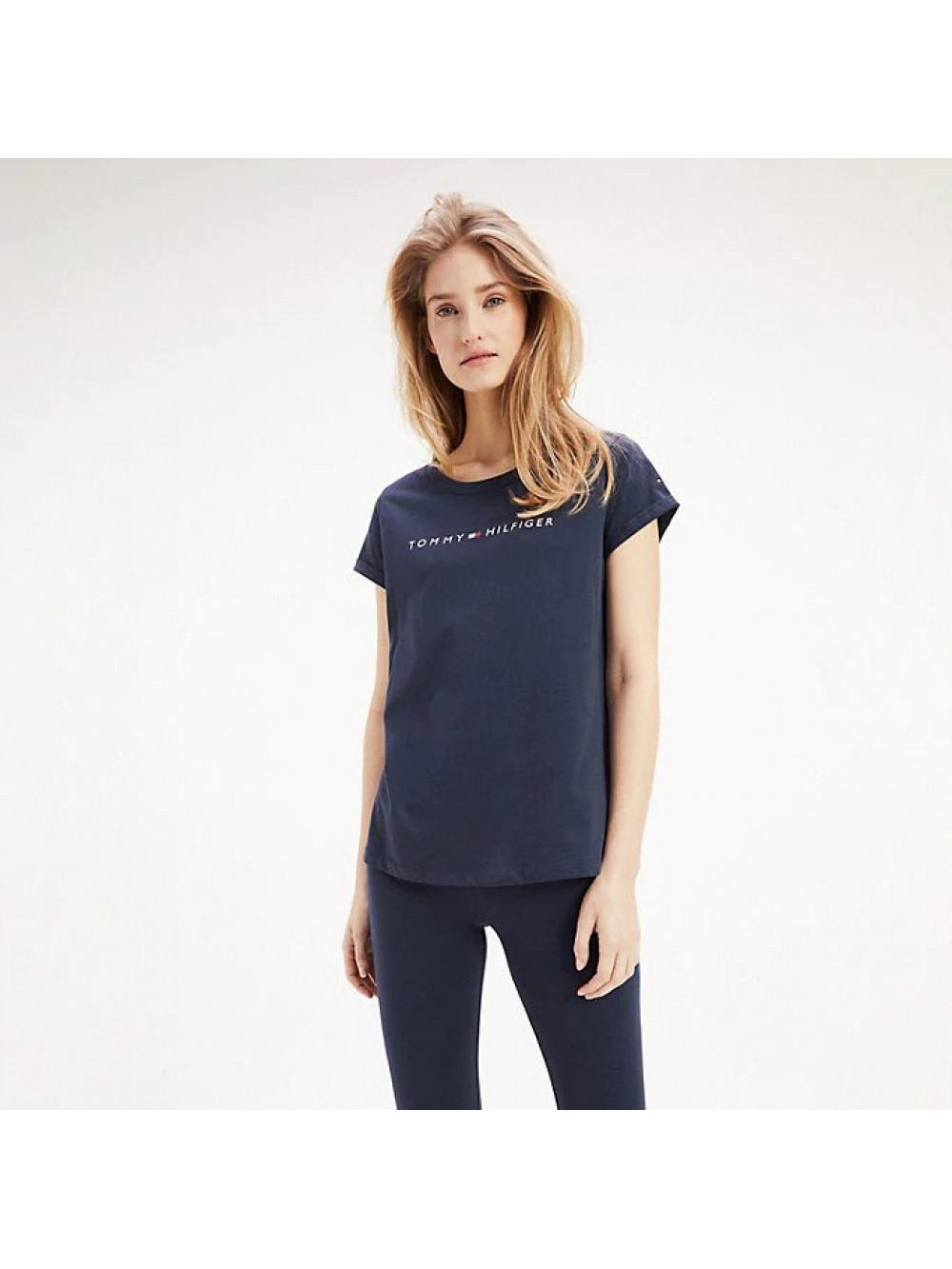 Damen T-Shirt Tommy Hilfiger RN TEE SS LOGO Blau