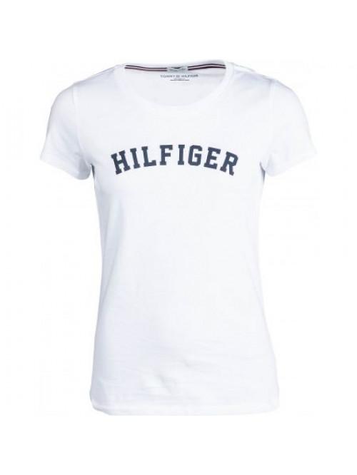Damen T-Shirt Tommy Hilfiger SS TEE PRINT Weiß