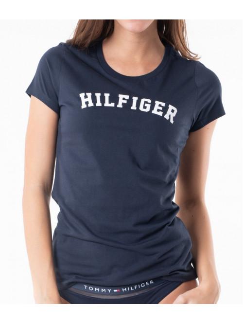 Damen T-Shirt Tommy Hilfiger SS TEE PRINT Navy-Blau