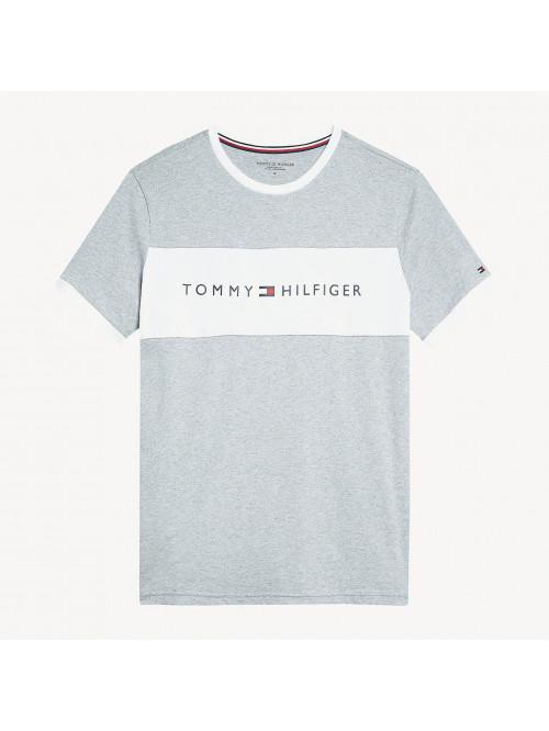 Herren T-Shirt Tommy Hilfiger CN SS TEE LOGO FLAG Grau