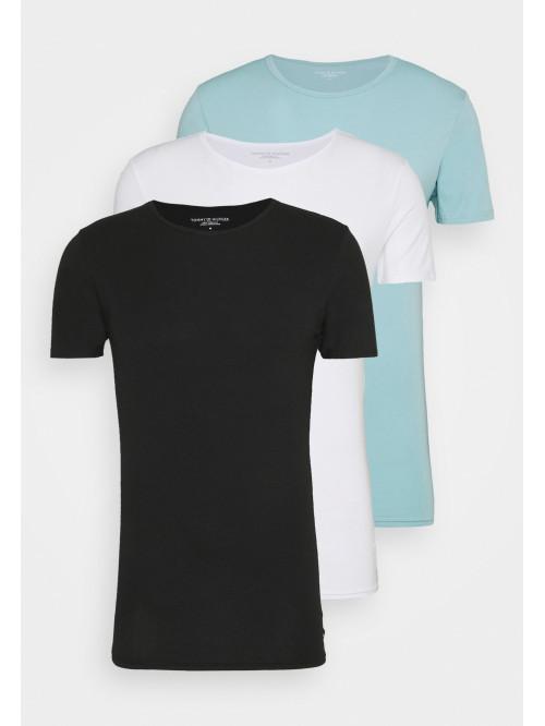 Herren T-Shirts Tommy Hilfiger C-Neck Tee SS Schwarz, Weiß, Hellblau 3-pack