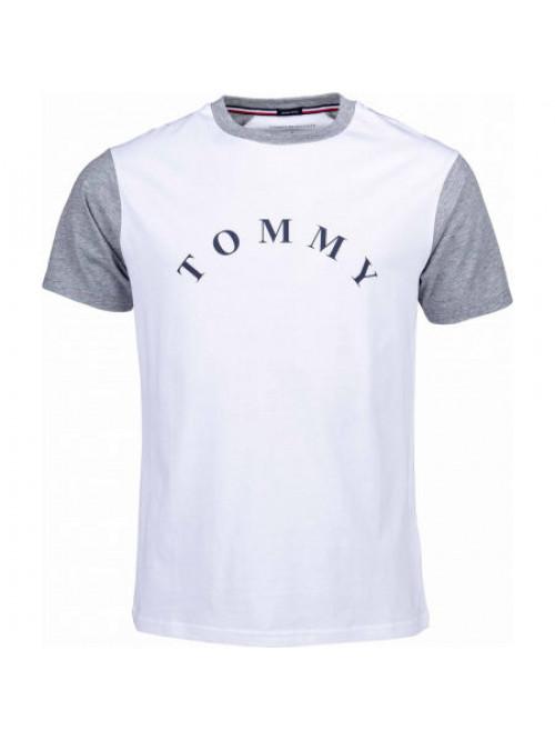 Herren T-Shirt Tommy Hilfiger CN SS Tee Logo Weiß