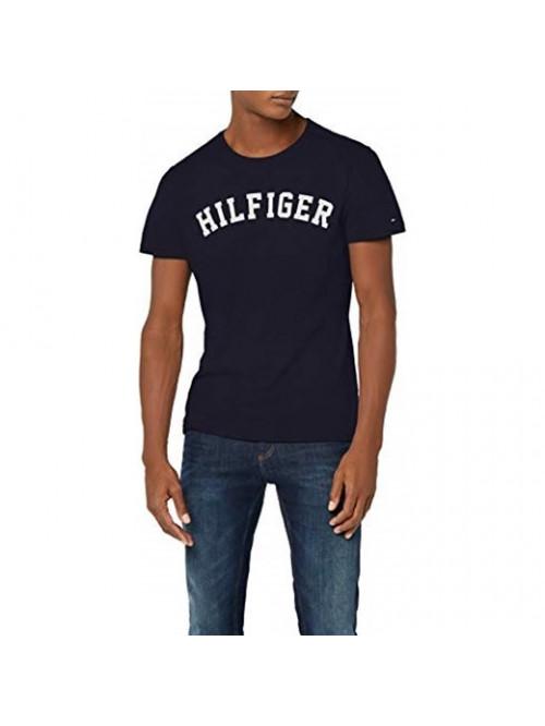 Herren T-Shirt Tommy Hilfiger SS TEE LOGO Navy