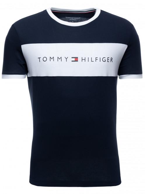 Herren T-Shirt Tommy Hilfiger Tee Logo Flag Blau