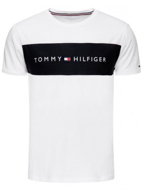 Herren T-Shirt Tommy Hilfiger Tee Logo Flag Weiß