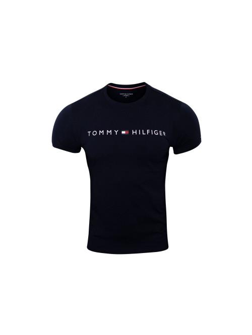 Herren T-Shirt Tommy Hilfiger Crew Neck Tee Logo Blau