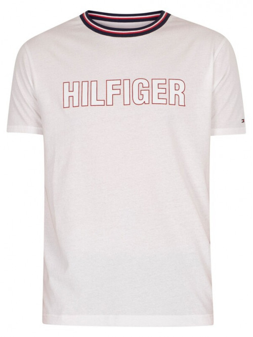 Herren T-Shirt Tommy Hilfiger CN SS Tee Graphic Lounge Weiß