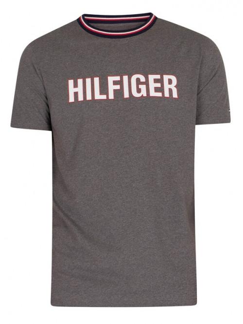 Herren T-Shirt Tommy Hilfiger CN SS Tee Graphic Lounge Grau