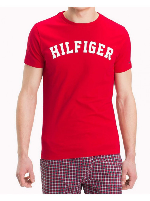 Herren T-Shirt Tommy Hilfiger SS TEE LOGO Rot