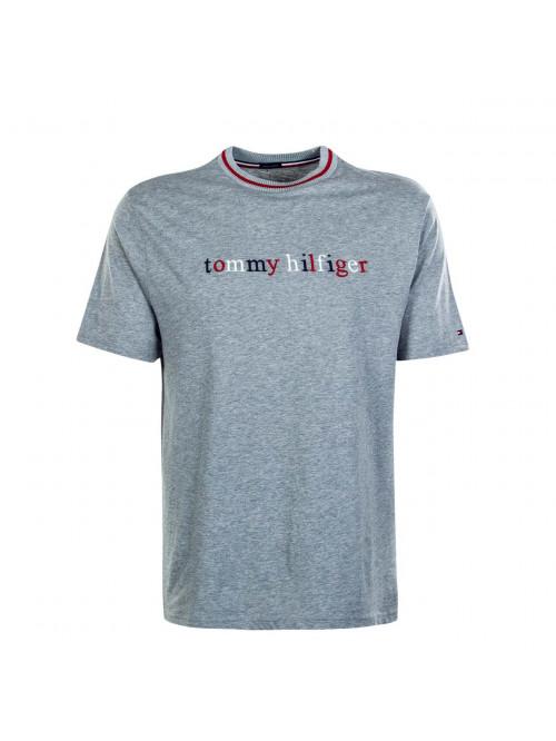 Herren T-Shirt Tommy Hilfiger Organic Cotton Logo T-shirt Grau