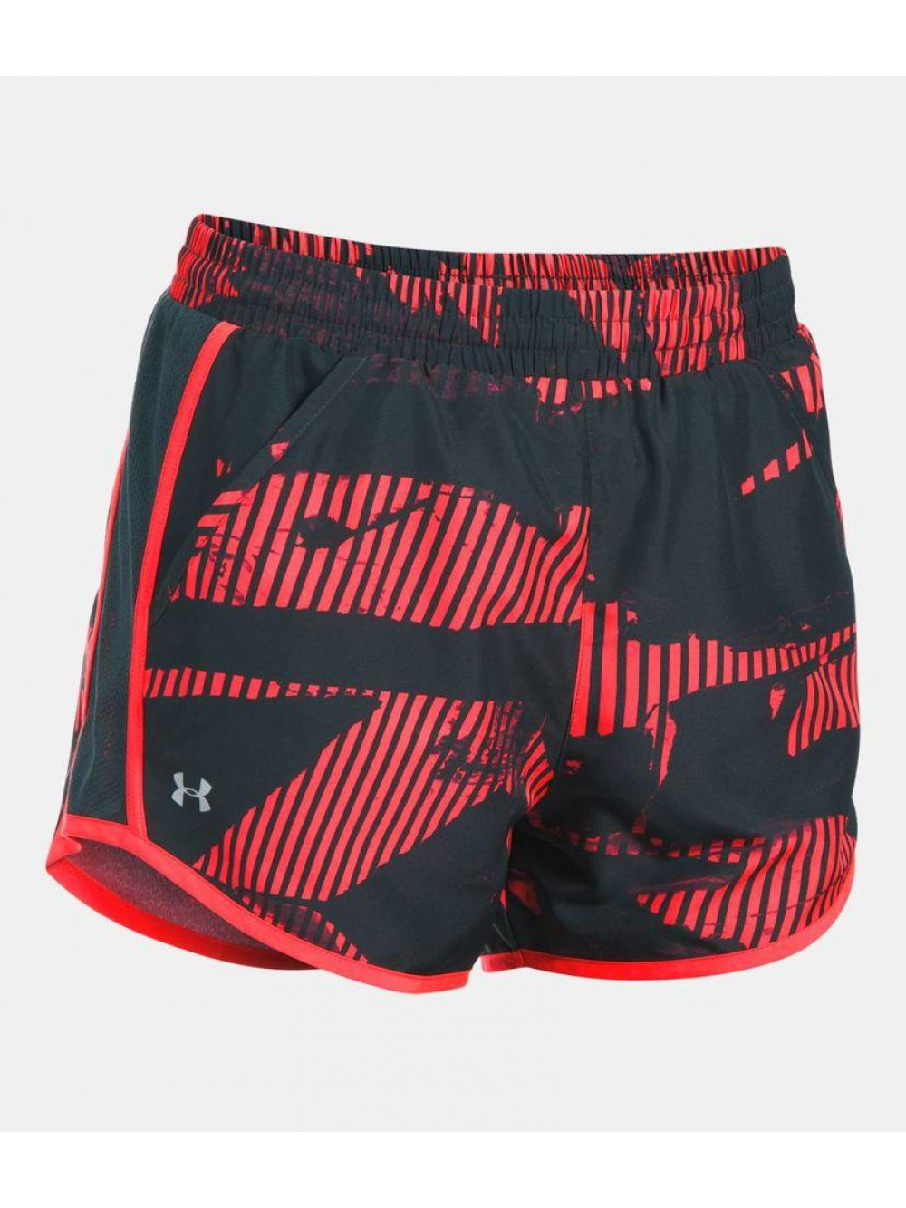 Damen Shorts Under Armour Fly By Printed schwarz-rot