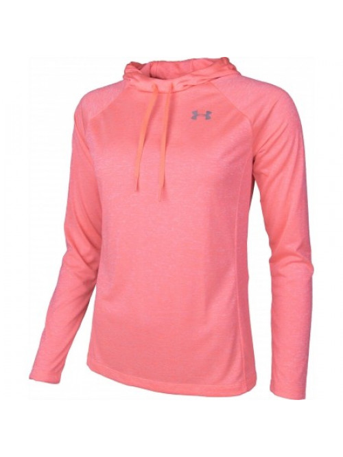 Damen Sweatshirt Under Armour Tech Hoody Rosarot