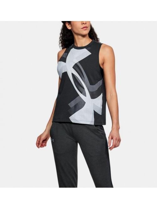 Damen Unterhemd Under Armour Muscle Tank Schwarz
