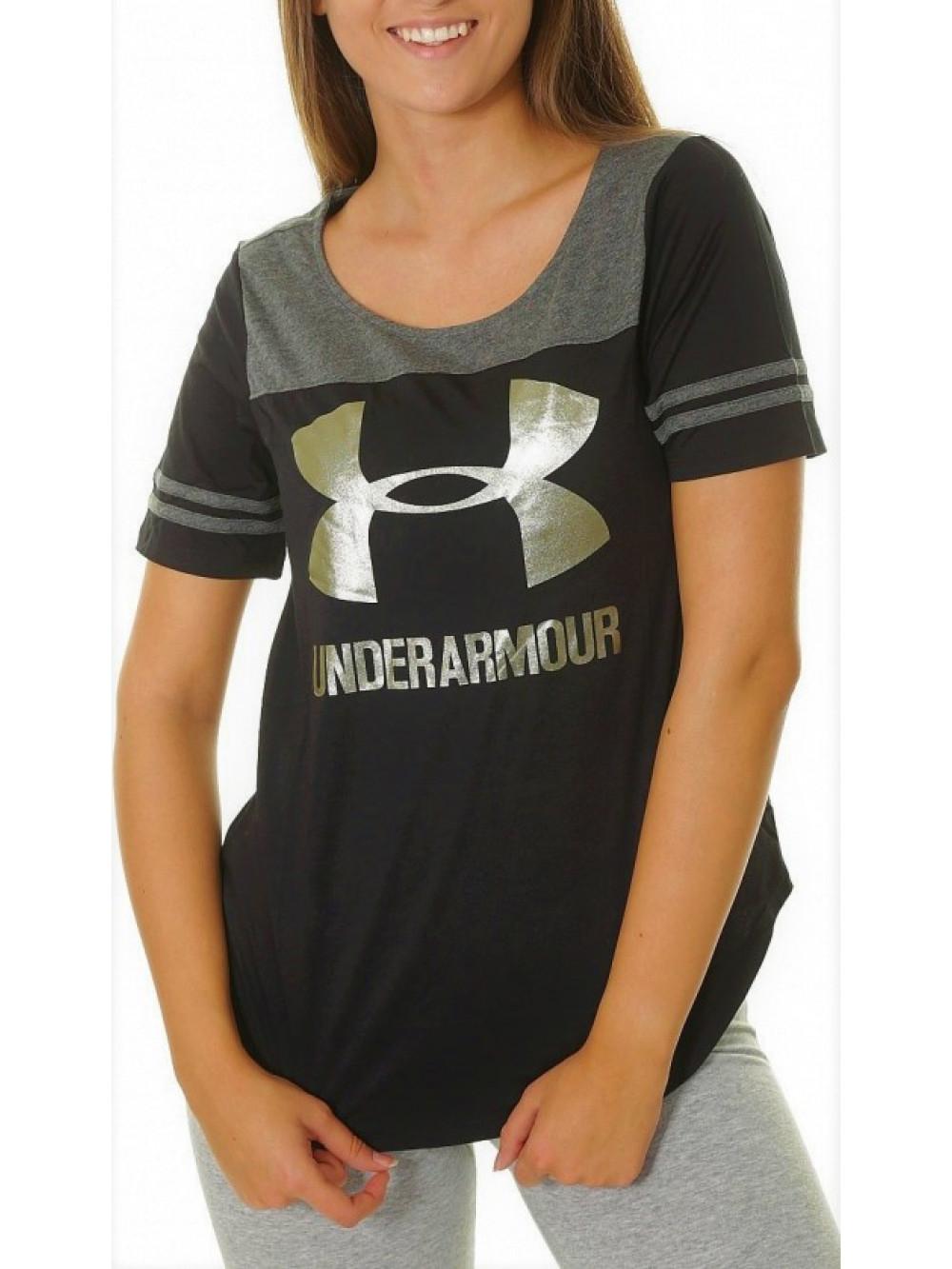 Damen T-shirt  Under Armour Sportstyle Baseball schwarz