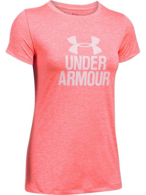 Damen T-shirt Under Armour Tech Twist rosarot