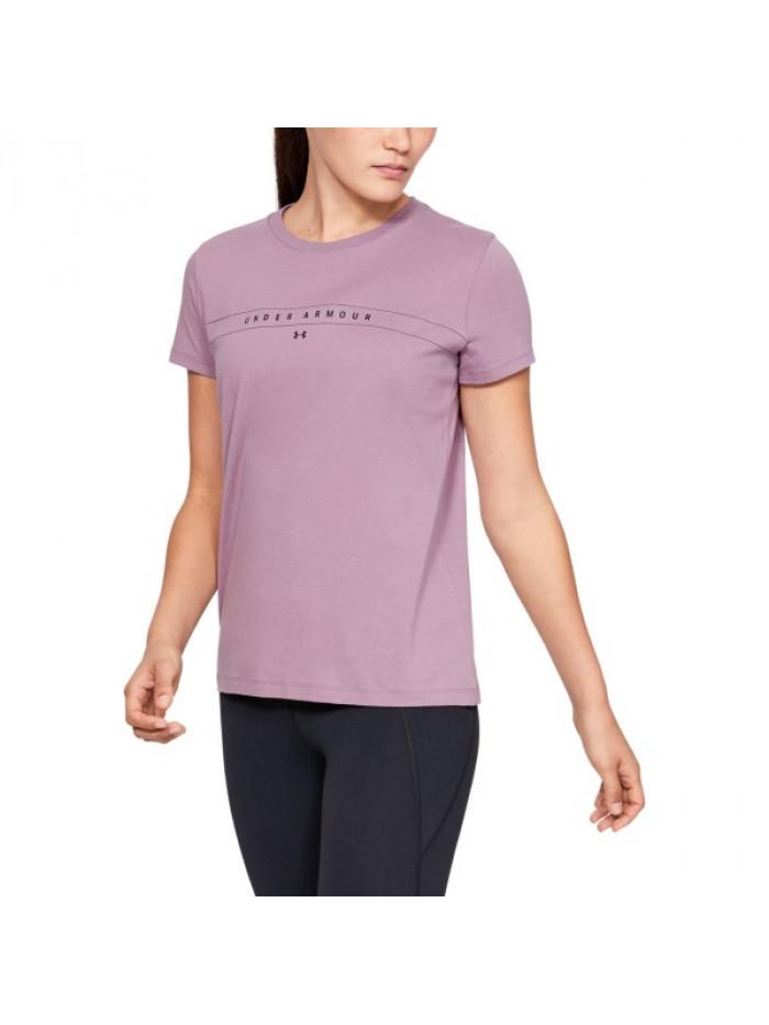 Damen T-Shirt Under Armour Classic Crew Rosarot