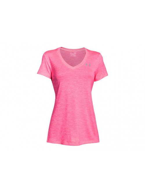 Damen T-shirt Under Armour Tech Twist rosarot