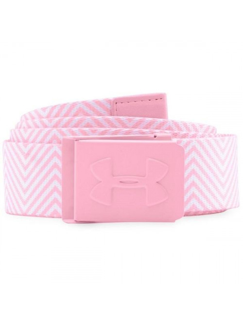 Damen Gürtel Under Armour Printed Golf weiß-rosa